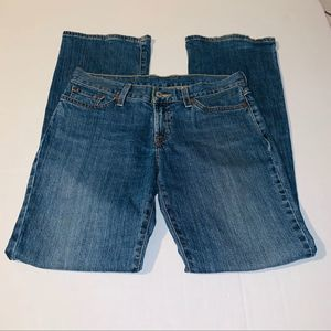 Lucky brand jeans blue Midrise Flare 6/28